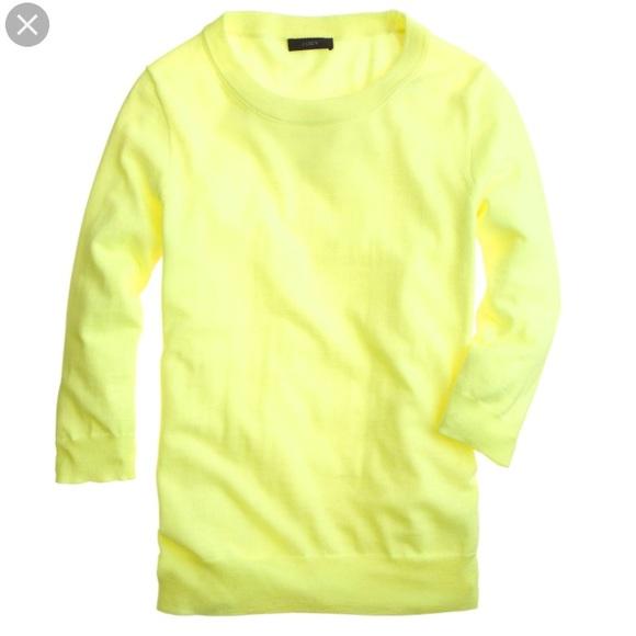 f14baae7e02 J. Crew Sweaters - J Crew Tippi Sweater Neon Citron